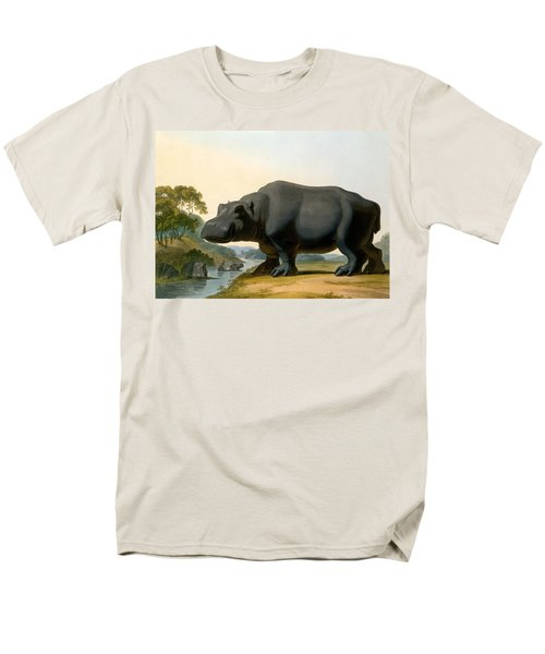 The Hippopotamus, 1804 Men's T-Shirt  (Regular Fit) by Samuel Daniell