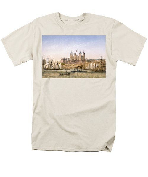 Tower Of London, 1862 Men's T-Shirt  (Regular Fit) by Achille-Louis Martinet