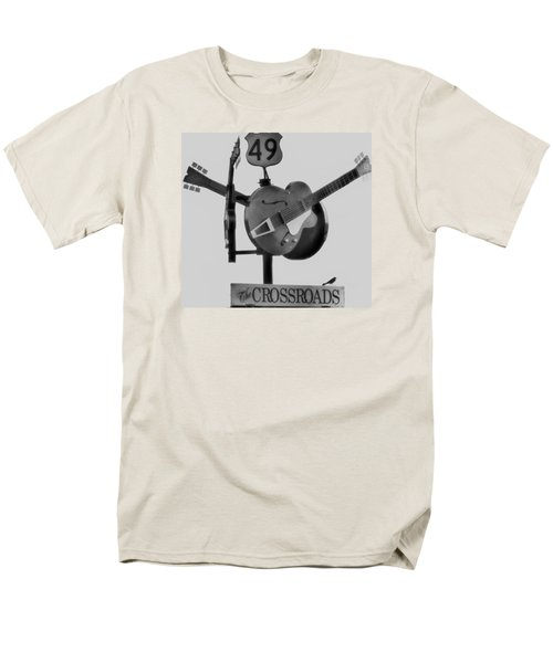 Tribute To The Blues At The Crossroads Men's T-Shirt  (Regular Fit) by Dan Sproul