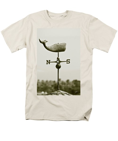 Whale Weathervane In Sepia T-Shirt by Ben and Raisa Gertsberg