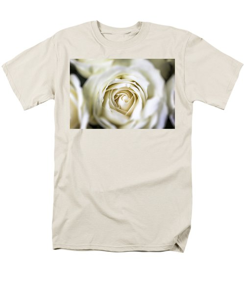 Whie Rose Softly T-Shirt by Garry Gay