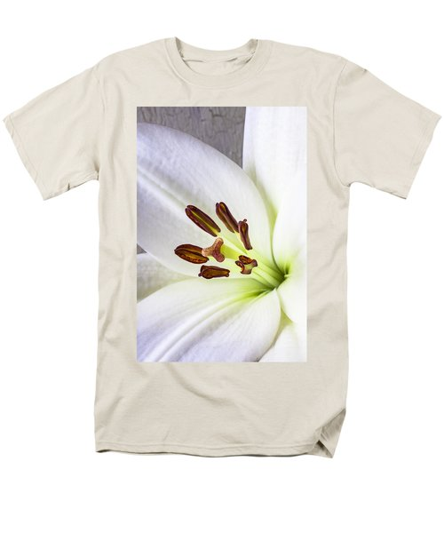 White Lily Close Up T-Shirt by Garry Gay
