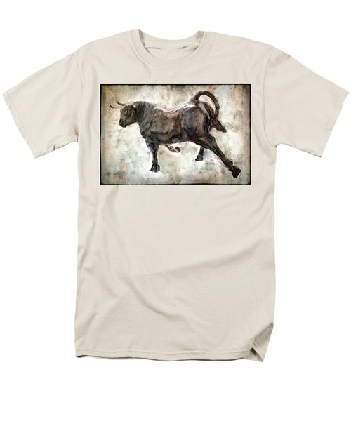 Wild Raging Bull Men's T-Shirt  (Regular Fit) by Daniel Hagerman