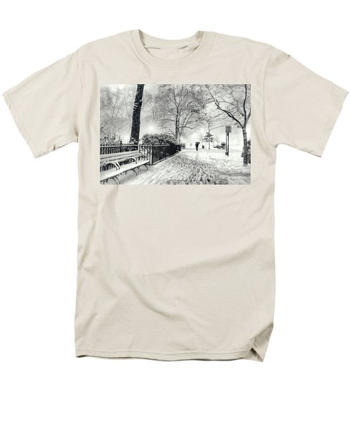 Winter Night - Snow - Madison Square Park - New York City T-Shirt by Vivienne Gucwa