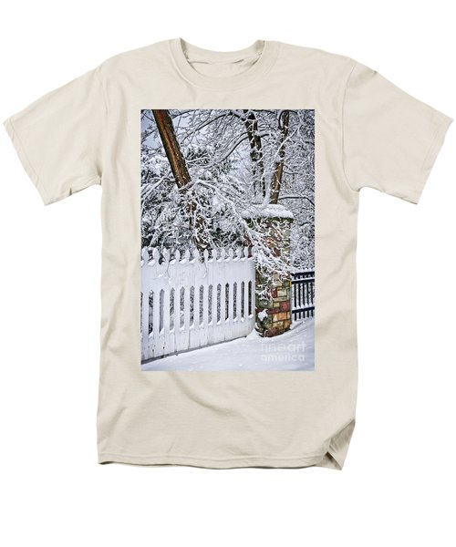 Winter park fence T-Shirt by Elena Elisseeva