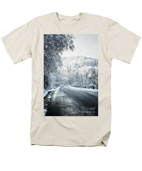 Winter road in forest T-Shirt by Elena Elisseeva