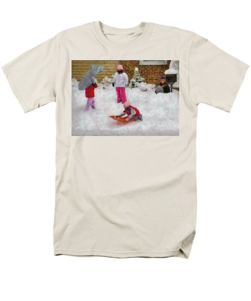 Winter - Winter is Fun T-Shirt by Mike Savad