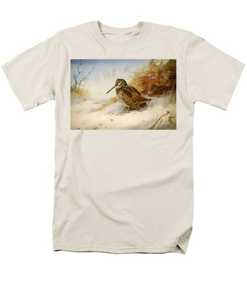Winter Woodcock Men's T-Shirt  (Regular Fit) by Mountain Dreams