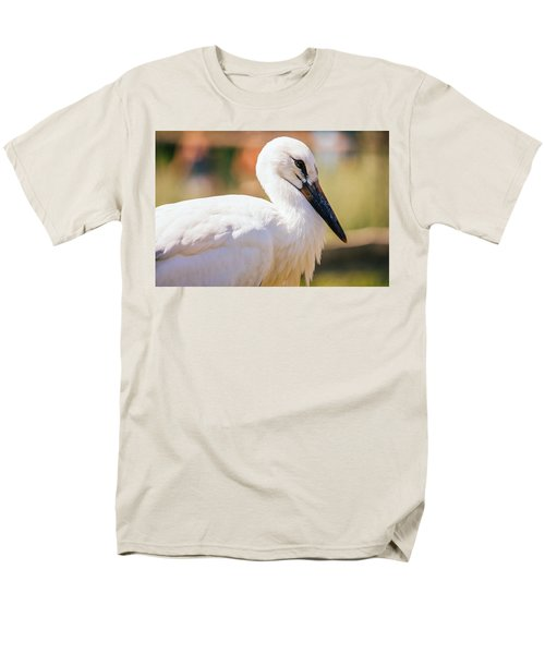 Young Stork Portrait Men's T-Shirt  (Regular Fit) by Pati Photography