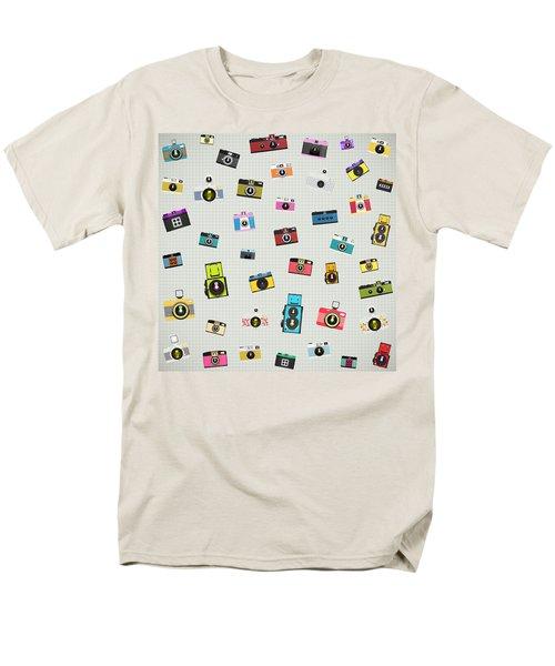 retro camera pattern T-Shirt by Setsiri Silapasuwanchai