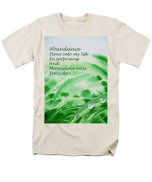 Abundance Affirmation T-Shirt by Irina Sztukowski
