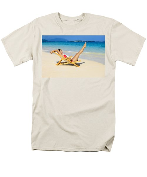 Beach Stretching T-Shirt by Tomas del Amo