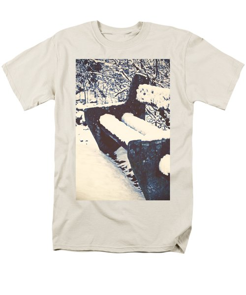 bench with snow T-Shirt by Joana Kruse