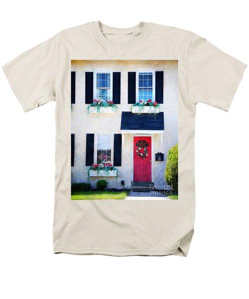 Black Window Shutters with Flowers T-Shirt by Paul Ward
