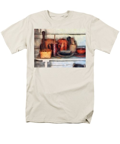 Bowls Basket and Wooden Spoons T-Shirt by Susan Savad