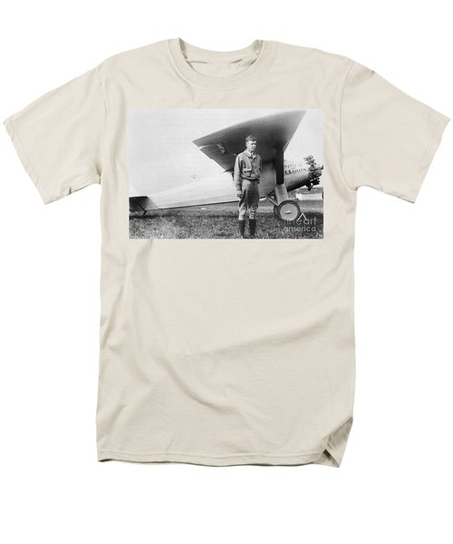 Charles Lindbergh American Aviator T-Shirt by Photo Researchers