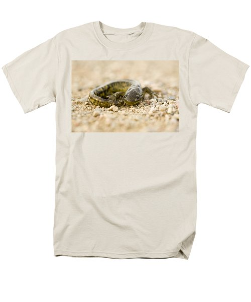 Close Up Tiger Salamander Men's T-Shirt  (Regular Fit) by Mark Duffy