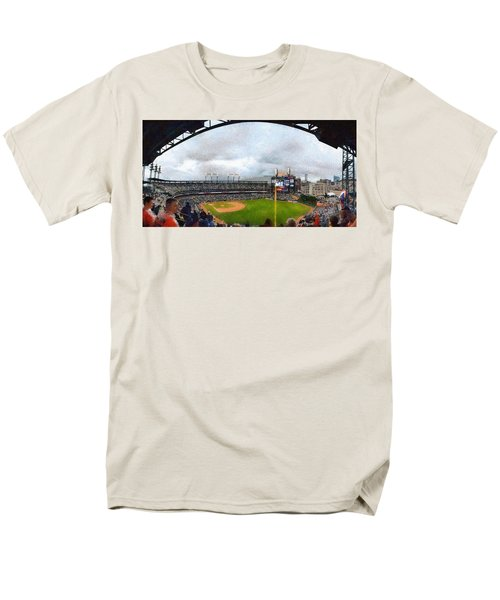 Comerica Park Home of the Detroit Tigers T-Shirt by Michelle Calkins