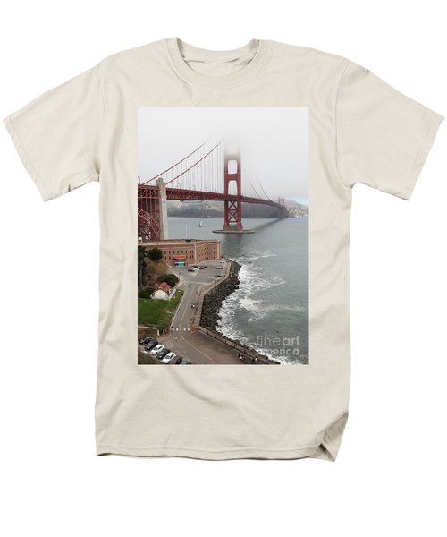 Fog At The San Francisco Golden Gate Bridge - 5D18872 T-Shirt by Wingsdomain Art and Photography