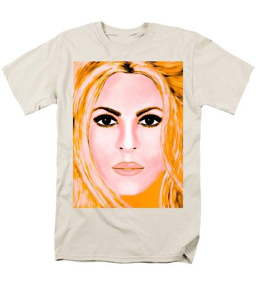 Gold Shakira Men's T-Shirt  (Regular Fit) by Mathieu Lalonde
