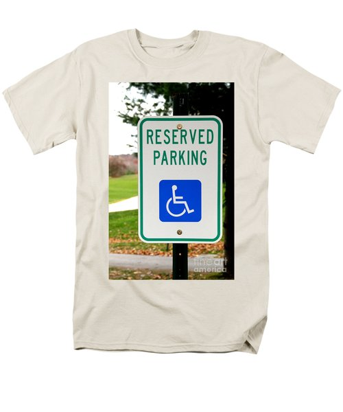 Handicapped Parking Sign T-Shirt by Photo Researchers