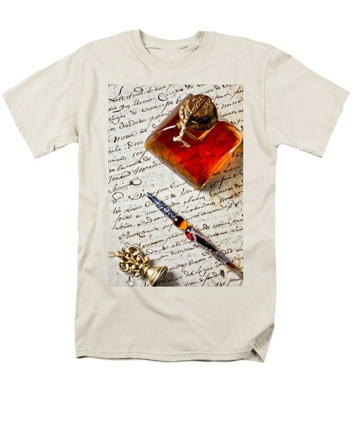 Ink bottle and pen  T-Shirt by Garry Gay