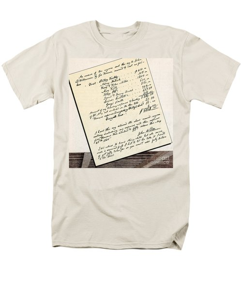 Invoice Of A Sale Of Black Slaves T-Shirt by Photo Researchers