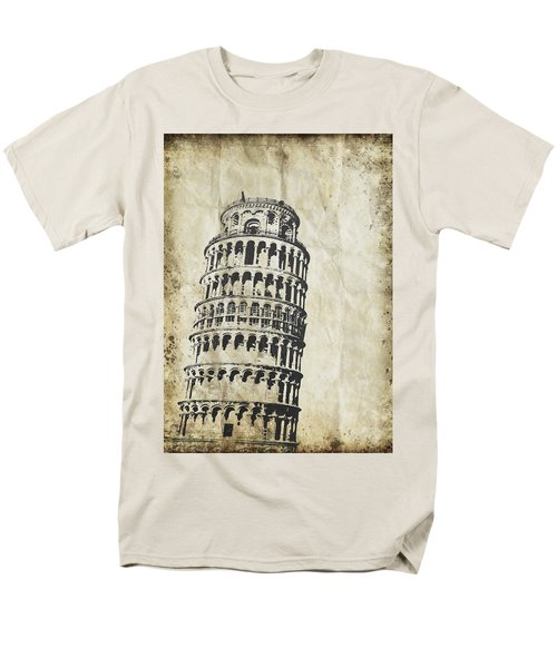 Leaning Tower of Pisa on old paper T-Shirt by Setsiri Silapasuwanchai