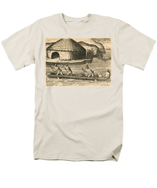 Native Americans Transporting Crops T-Shirt by Photo Researchers
