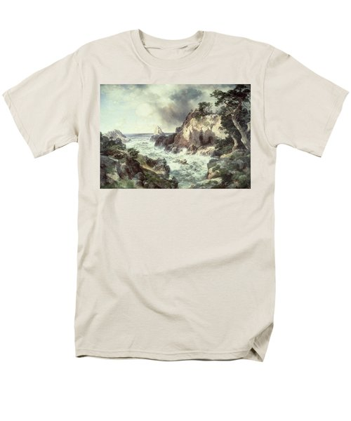 Point Lobos At Monterey In California Men's T-Shirt  (Regular Fit) by Thomas Moran