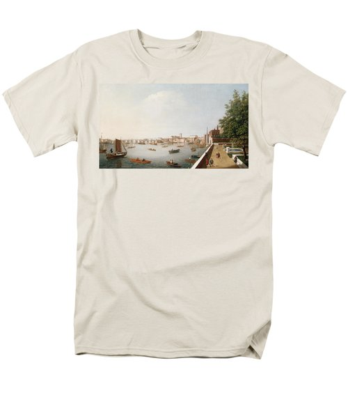 View Of The River Thames From The Adelphi Terrace  Men's T-Shirt  (Regular Fit) by William James