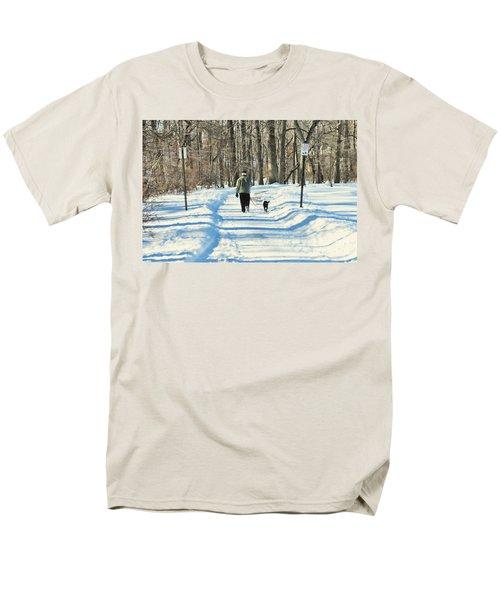 Walking the dog T-Shirt by Paul Ward