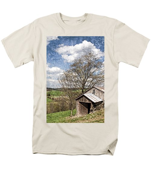 Weathered Hillside Barn Spring T-Shirt by John Stephens