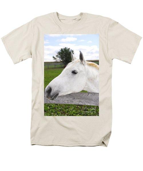 White horse T-Shirt by Elena Elisseeva
