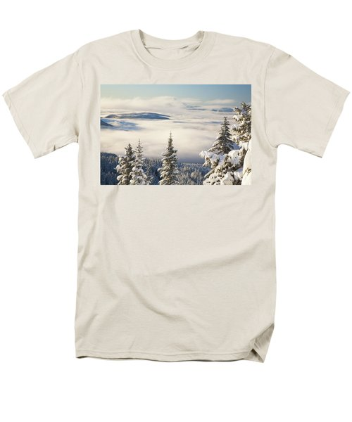Winter Landscape With Clouds And T-Shirt by Craig Tuttle