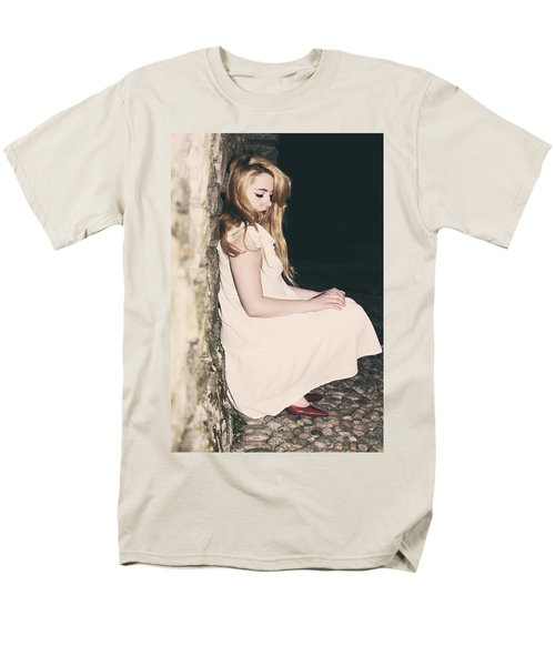 woman in an alley T-Shirt by Joana Kruse