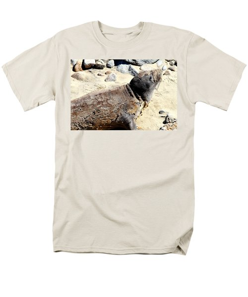 Young Elephant Seal Molting . 7D16118 T-Shirt by Wingsdomain Art and Photography