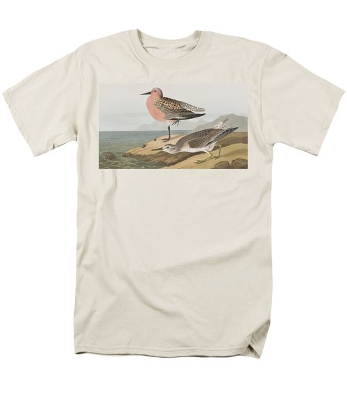 Red-breasted Sandpiper  Men's T-Shirt  (Regular Fit) by John James Audubon