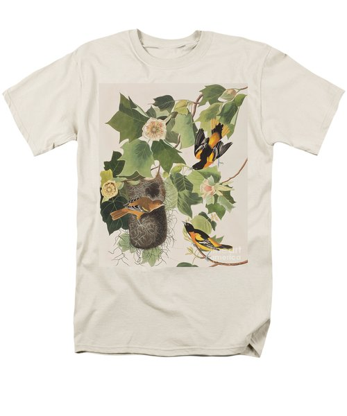 Baltimore Oriole Men's T-Shirt  (Regular Fit) by John James Audubon