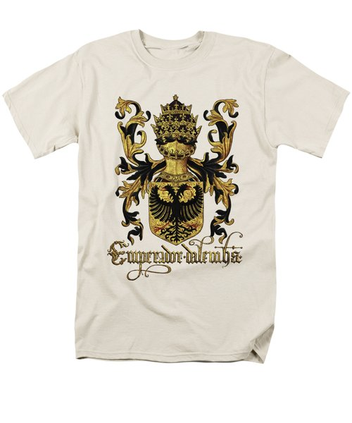 Emperor Of Germany Coat Of Arms - Livro Do Armeiro-mor Men's T-Shirt  (Regular Fit) by Serge Averbukh