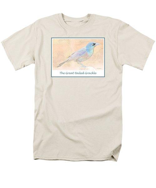 Men's T-Shirt  (Regular Fit) featuring the digital art Great Tailed Grackle by A Gurmankin