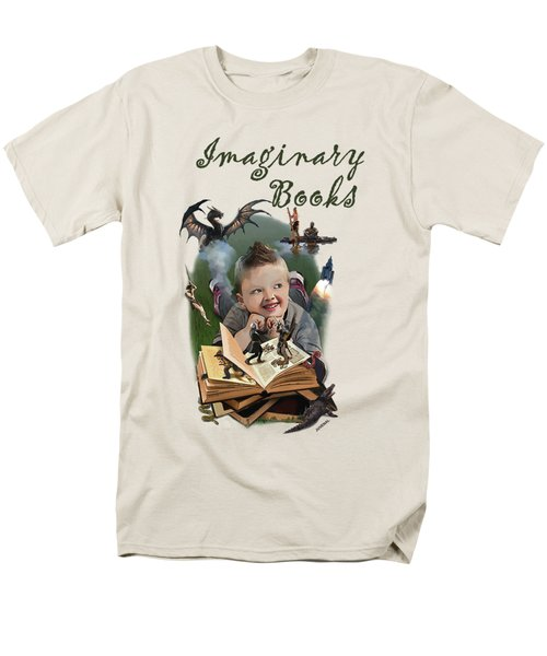 Imaginary Books Men's T-Shirt  (Regular Fit) by Joseph Juvenal