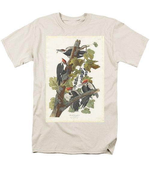 Pileated Woodpecker Men's T-Shirt  (Regular Fit) by John James Audubon