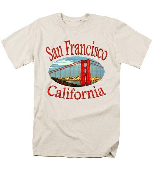 San Francisco California - Tshirt Design Men's T-Shirt  (Regular Fit) by Art America Online Gallery