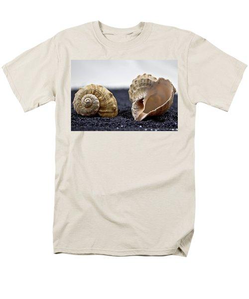 seashells on black sand T-Shirt by Joana Kruse