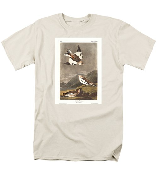 Snow Bunting Men's T-Shirt  (Regular Fit) by John James Audubon