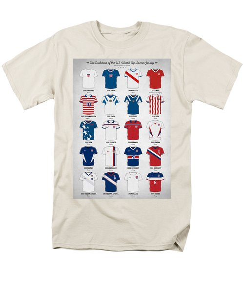 The Evolution Of The Us World Cup Soccer Jersey Men's T-Shirt  (Regular Fit) by Taylan Apukovska