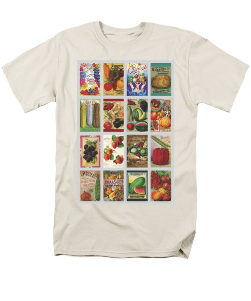 Vintage Farm Seed Packs Men's T-Shirt  (Regular Fit) by Debbie Karnes