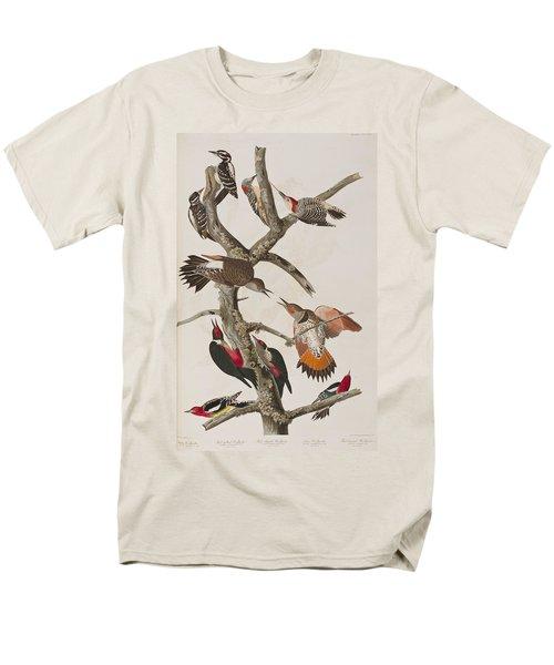Woodpeckers Men's T-Shirt  (Regular Fit) by John James Audubon