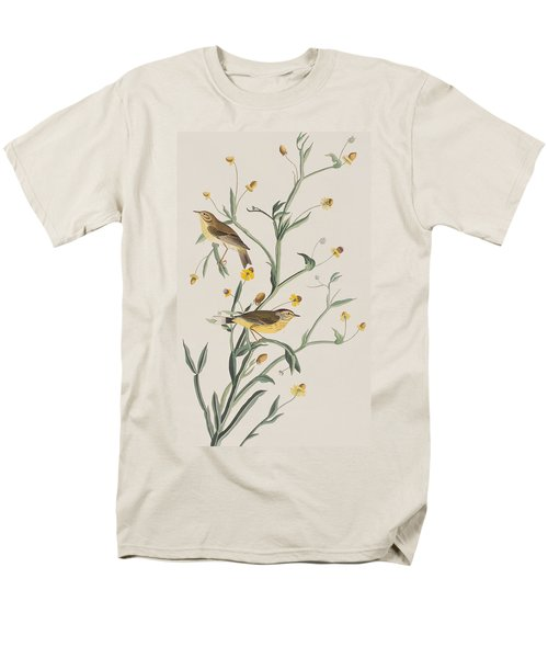 Yellow Red-poll Warbler Men's T-Shirt  (Regular Fit) by John James Audubon